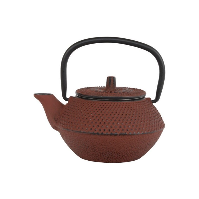 Arare Theepot Gietijzer Rood 0.35 liter incl. RVS filter