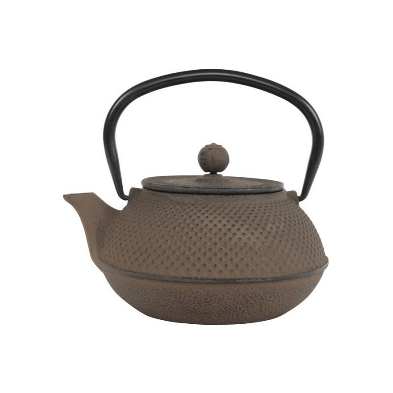 Arare Theepot Gietijzer Taupe 0.80 liter incl. RVS filter