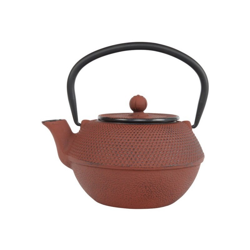 Arare Theepot Gietijzer Rood 1.10 liter incl. RVS filter