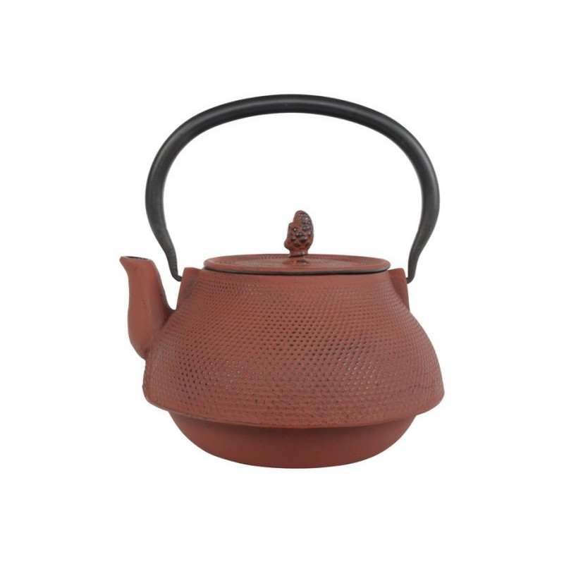 Arare Theepot Gietijzer Rood 1.90 liter incl. RVS filter