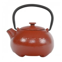 Omaia Theepot Gietijzer Rood 0.35 liter incl. RVS filter