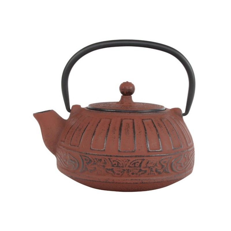 Puyang Theepot Gietijzer Rood 0.80 liter incl. RVS filter
