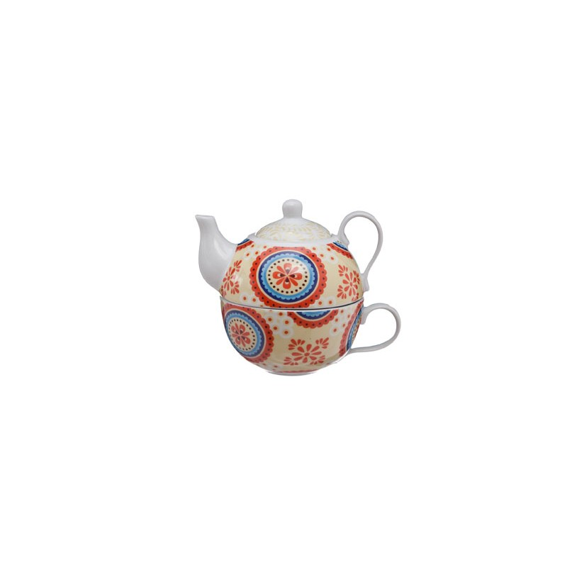 Tea-For-One Cheerful theepot 26cl + kop 21cl Accessoires Cosy & Trendy - 1