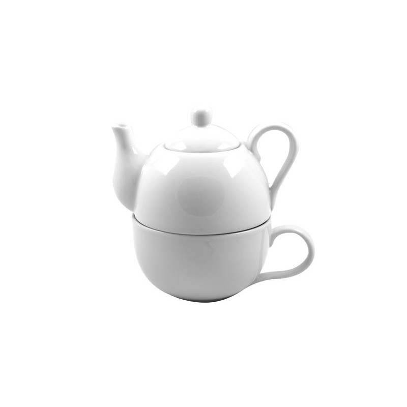 Tea-For-One Wit theepot 40cl + kop 30cl Accessoires Cosy & Trendy - 1