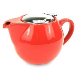 Theepot Saara Rood 0,5L incl. RVS theefilter Accessoires Chacult - 1