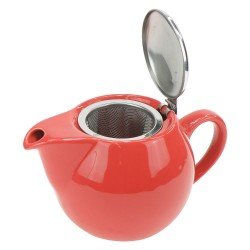 Theepot Saara Rood 0,5L incl. RVS theefilter Accessoires Chacult - 2