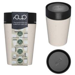 rCup Thee To Go Theebeker 225 ml crème / zwart (100% gerecycled materiaal) Tea to Go  - 4