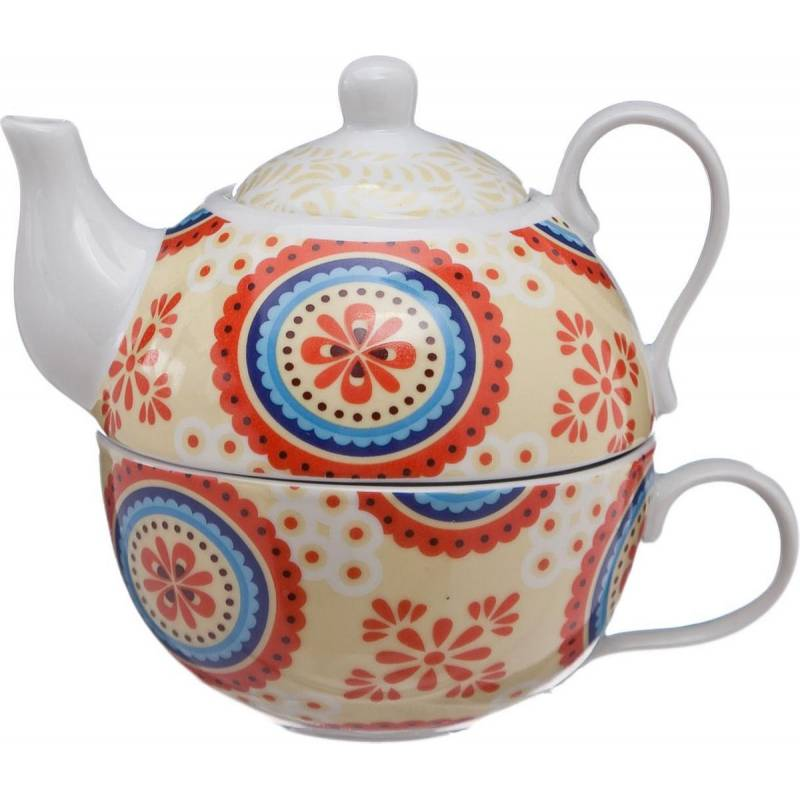 Tea For One Cheerful theepot 26cl + kop 21cl Cosy & Trendy Accessoires Cosy & Trendy - 1