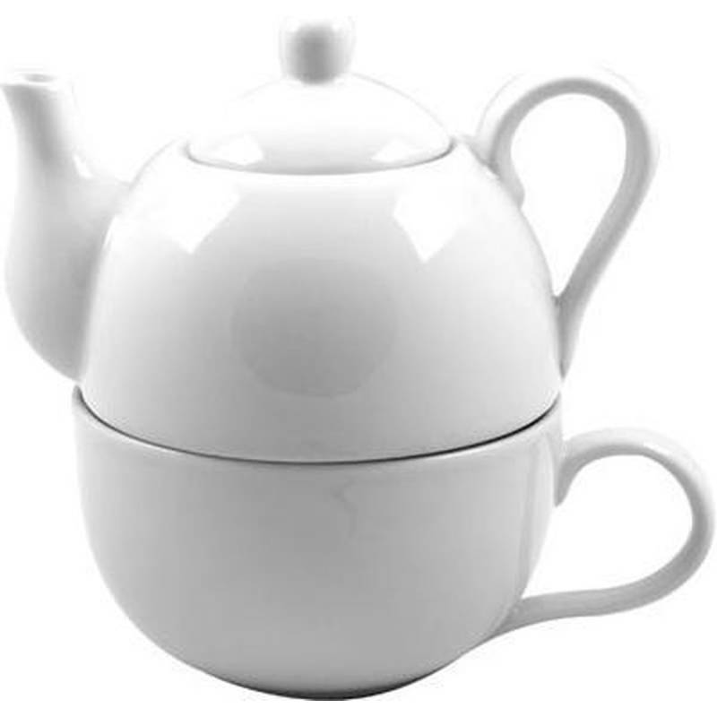Tea For One Wit theepot 40cl + kop 30cl Cosy & Trendy Accessoires Cosy & Trendy - 1